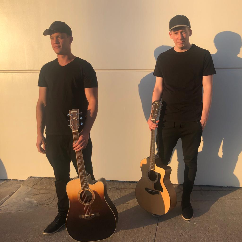 Midnight Destiny Music Band - Kevin Blake and Chris James with Guitars